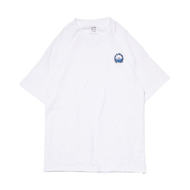 Evisen Skateboardsゑ  EVIREST STICH TEE (WHITE , BLACK)