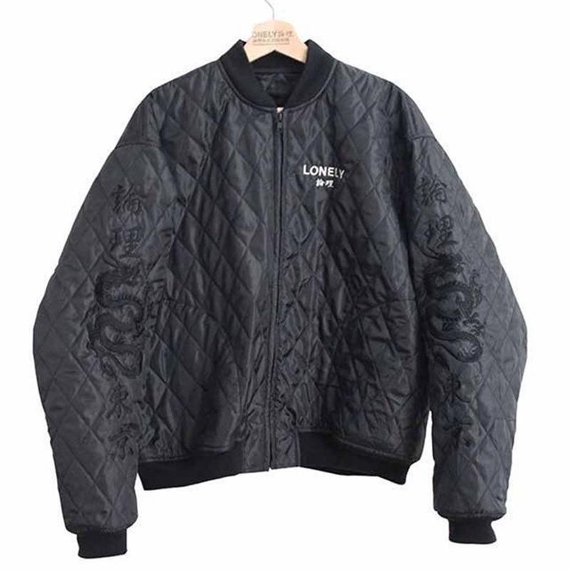 """LONELY論理 LONELY SPECIAL QUILTING SOUVENIR JK"""" CHIMI MOU RYOW"""" (BLACK)"""