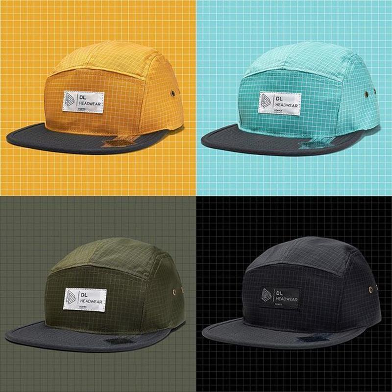 DL Headwear Omega 5Panel Camp Cap RIPSTOP (BLACK, OLIVE, LAGOON, ORANGE)
