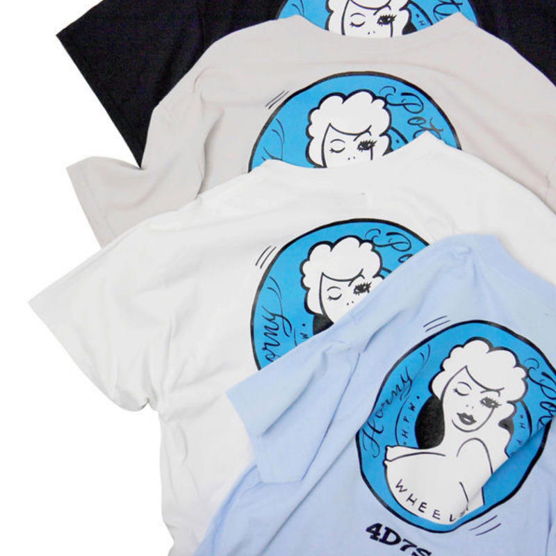 HAIGHT HONEY POT T-SHIRT ft 4D7S (WHITE , LIGHT BLUE , BLACK , GRAY)