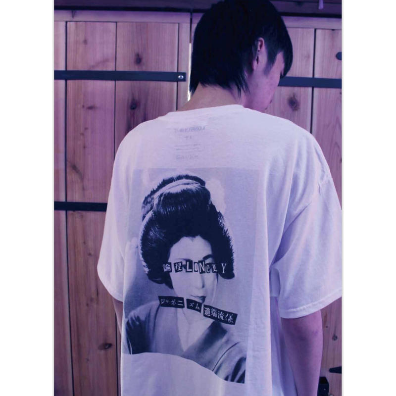LONELY論理 ANARCHY IN THE JAPANESE MAIKO TEE (BLACK,WHITE,PURPLE)