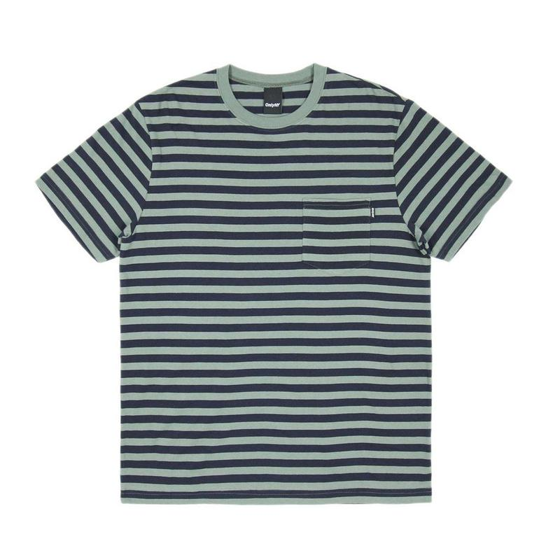 Only NY Nautical Stripe Pocket T-Shirt (Willow)