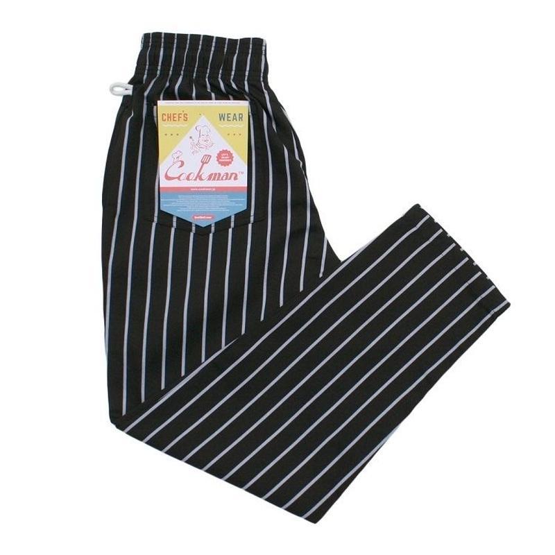 Cookman ChefPants PINSTRIPE (BLACK)