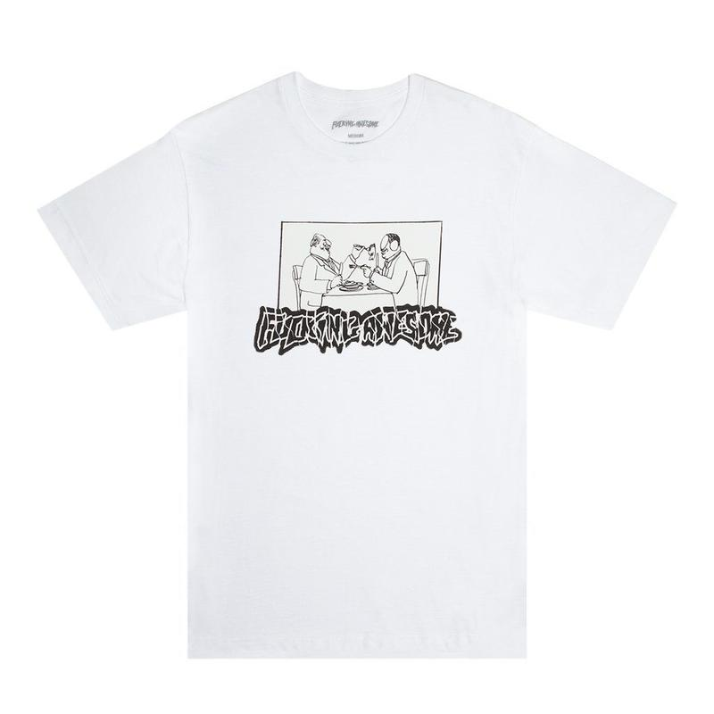 FUCKING AWESOME Sliced Tee (White)
