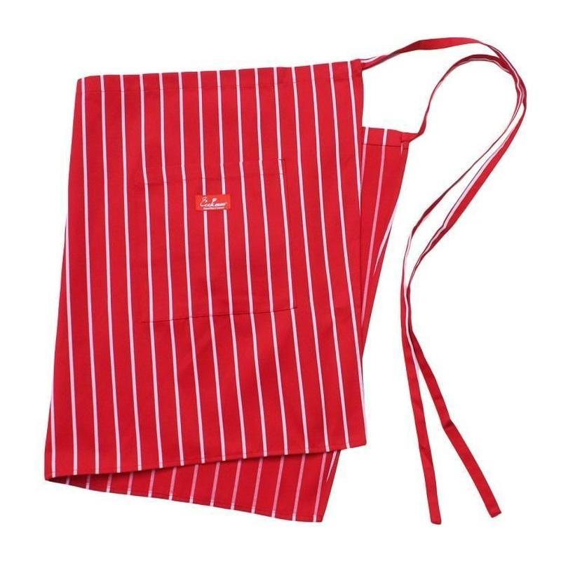 Cookman Waist Apron (Stripe Red)