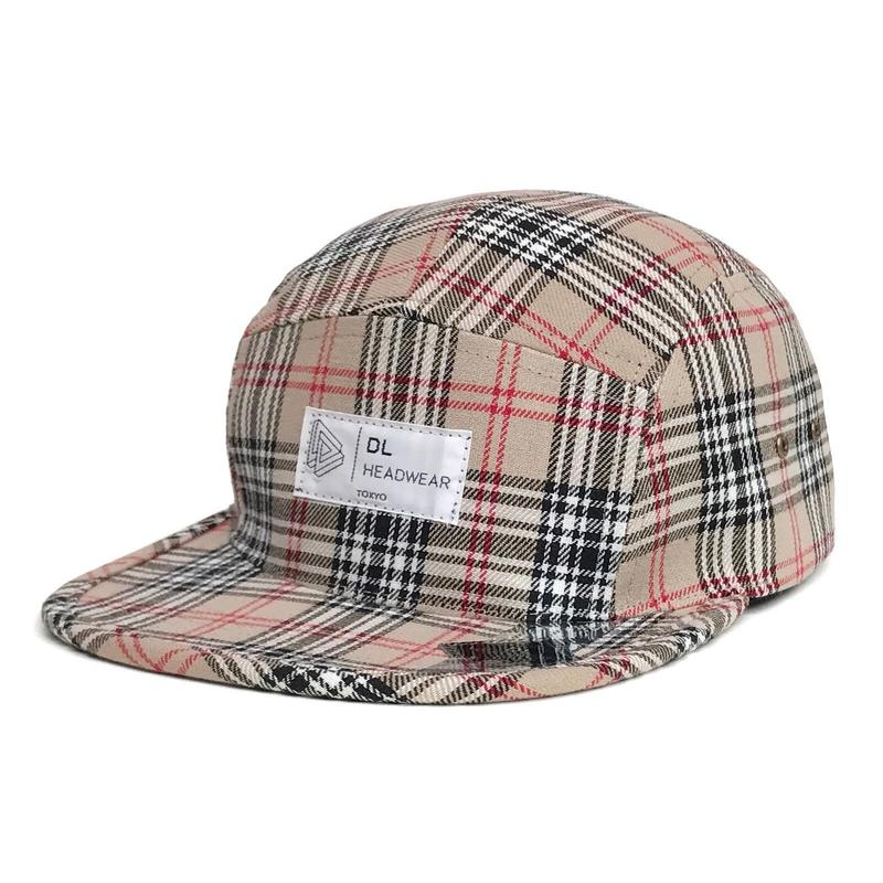 DL Headwear Omega 5Panel Camp Cap (nova check)