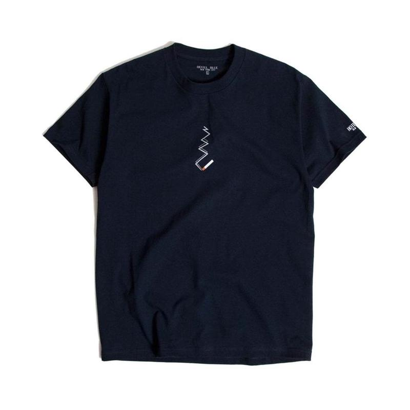 HOTEL BLUE SMOKE TEE (ASH , NAVY)