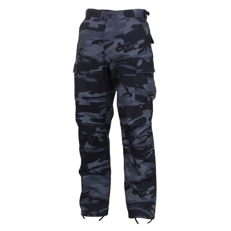 ROTHCO COLOR CAMO TACTICAL BDU PANTS (MID NIGHT BLUE CAMO)