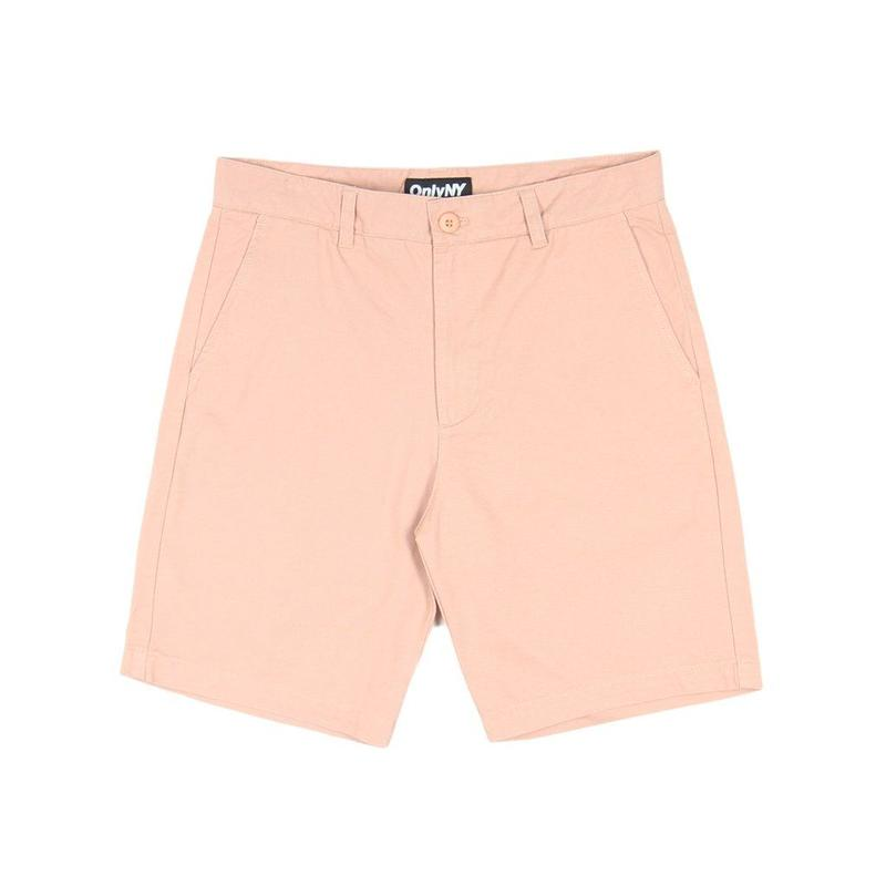 Only NY Washed Chino Shorts (Salmon)