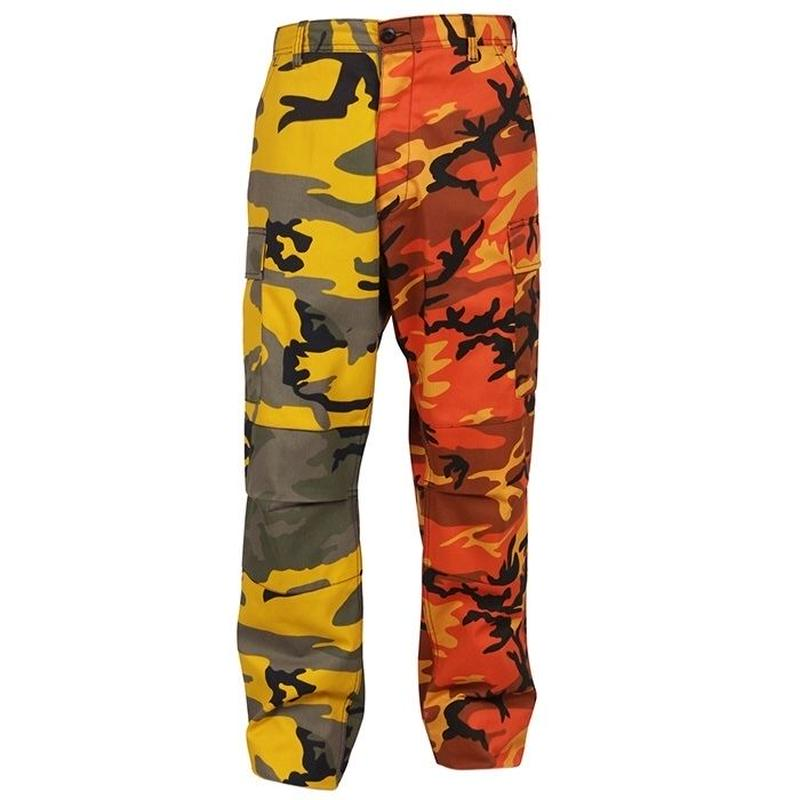 ROTHCO TWO TONE CAMO BDU PANTS (STINGER YELLOW×SAVAGE ORANGE CAMO)