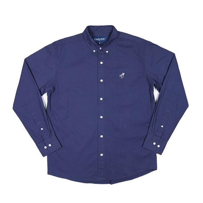 ONLY NY OK BUTTON DOWN SHIRT (NAVY, SAND)