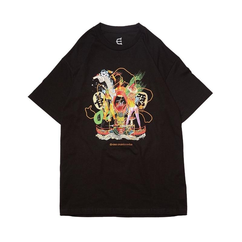 Evisen Skateboardsゑ  NASTY TEE (WHITE , BLACK)