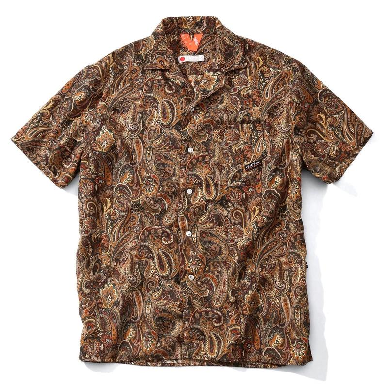 FLATLUX Magatama Ss-Shirt (brown, wine)