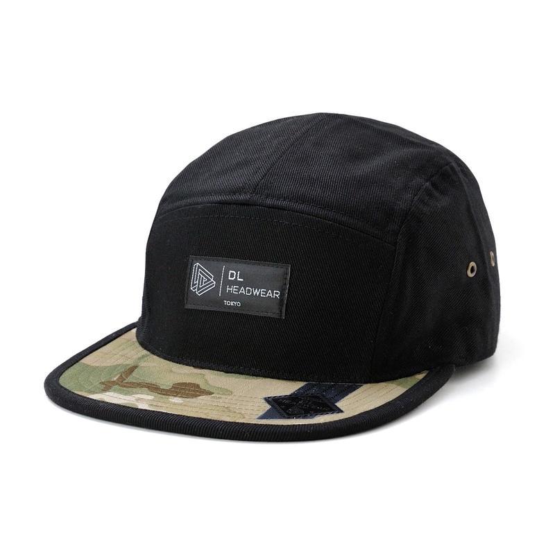 DL Headwear Omega 5Panel Camp Cap (black multi camo)