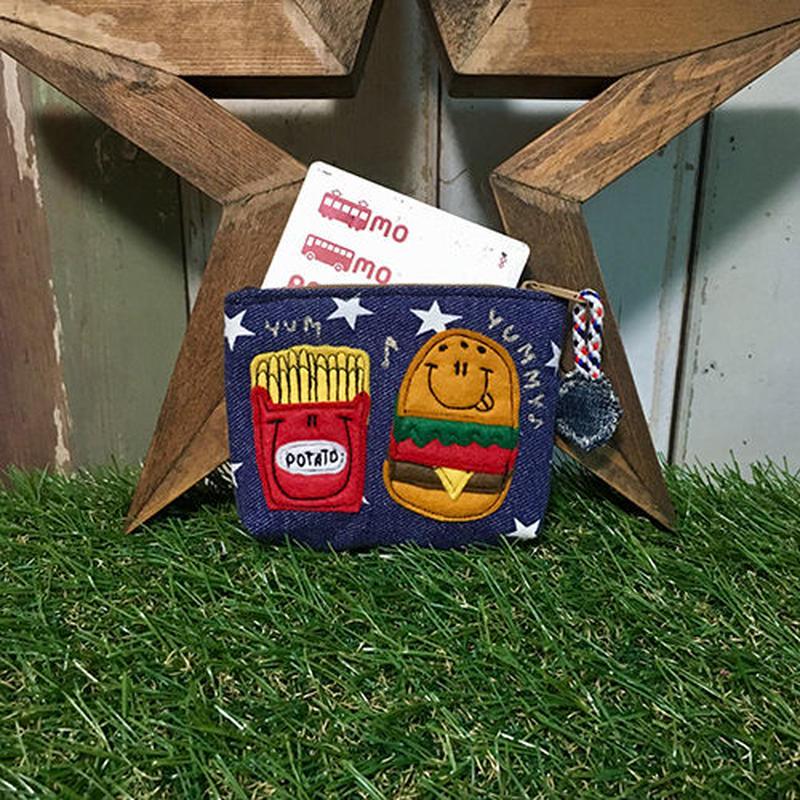 ハンバーガー&ポテトワッペンコインカードケース(ポーチ)