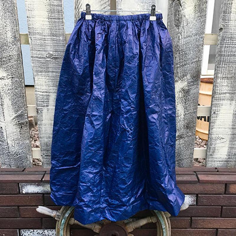 ペーパーファブリックスカート(ブルー)【洗濯可】