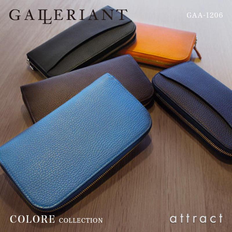 GALLERIANT ガレリアント COLORE コローレ ラウンドファスナー ロングウォレット 長財布 GAA-1207