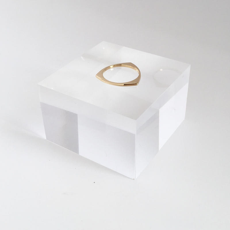 Three ring in gold