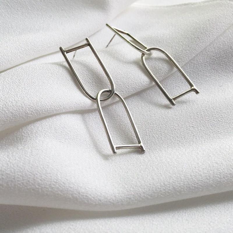 Nu chain pierce in silver