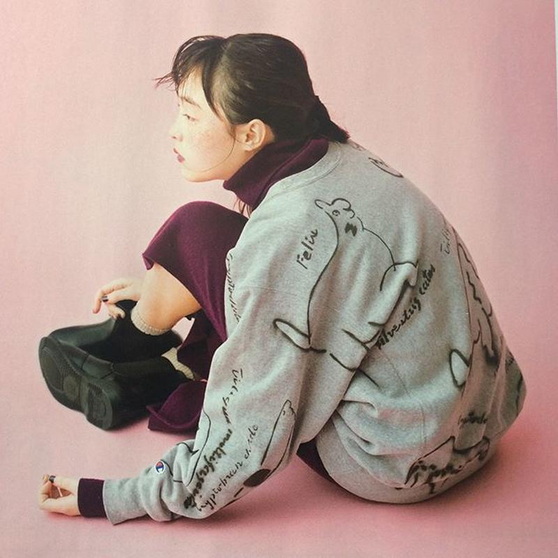 【on champion】OMA overdrawing sweatshirt 55 legal copy,stencil Ver, [animal assort]|動物アソート