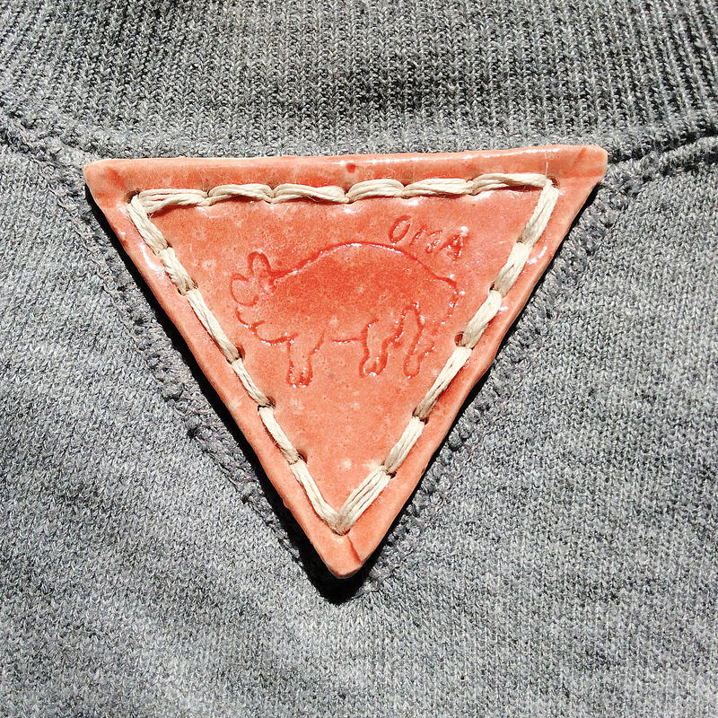 【on RUSSELL】OMA gazette sweatshirt  |triangle pottery  light gray