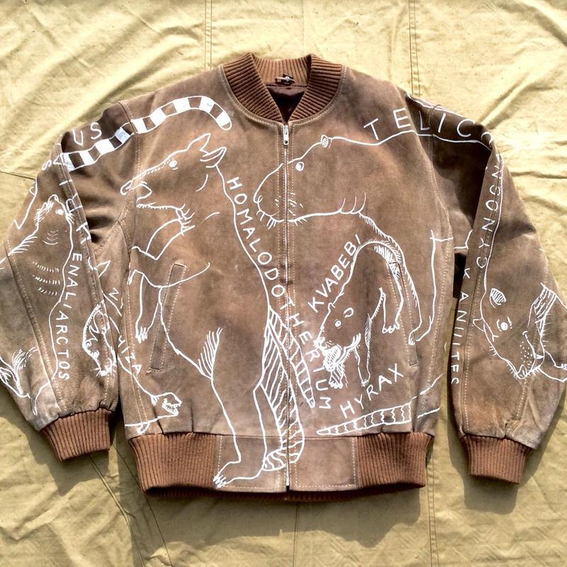 OMA overdrawing 革  leather 02「絶滅動物 Extinct animais」
