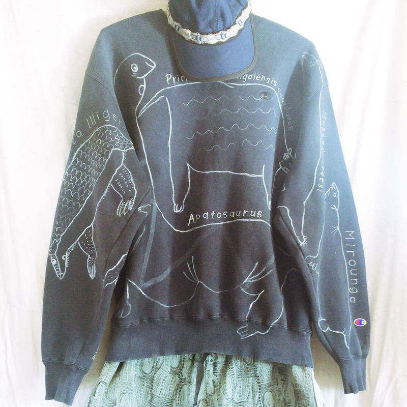 【on champion】OMA overdrawing sweatshirt 66  動物アソート|animal assort