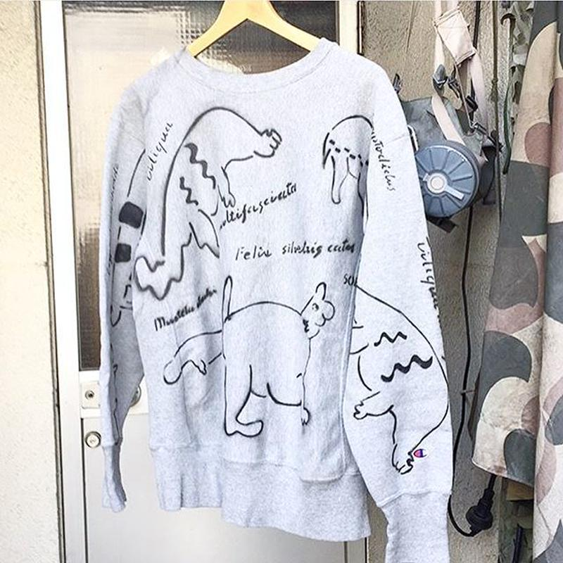 【on champion】OMA overdrawing トレーナー|sweatshirt 53 legal copy , stencil Ver, 動物アソート|animal assort