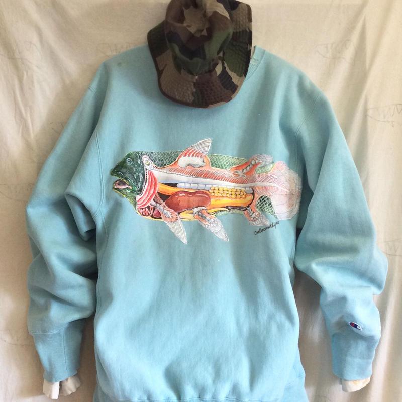 【on champion】OMA overdrawing sweatshirt 71,codename1体,satisfaction シーラカンス|coelacanthiformes