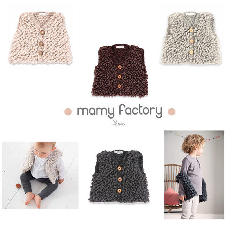 mamy factory 手編みニットジレ (15026)