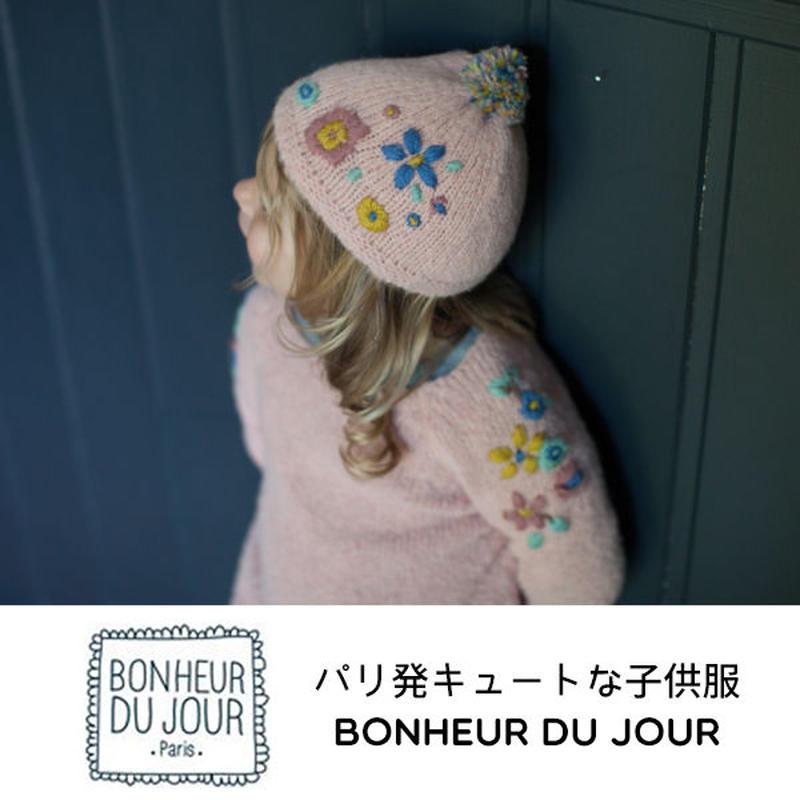 BONHEUR DU JOUR 刺繍入りニットキャップ(18008)