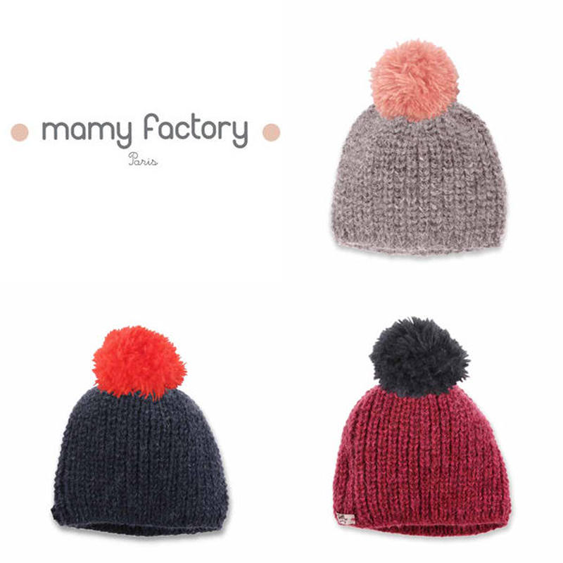mamy factory ボンボン付きニット帽 (15007)