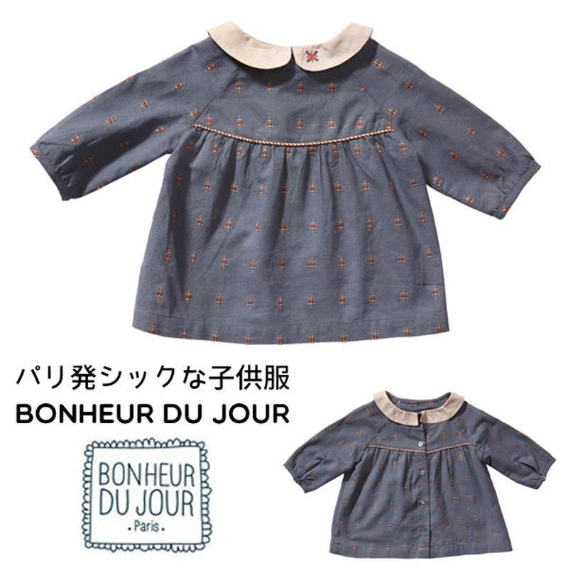 BONHEUR DU JOUR 刺繍入りチュニックブラウス(16035)