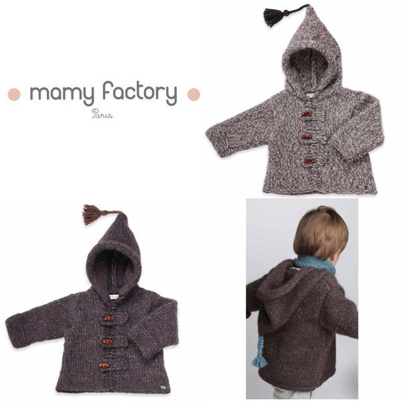 mamy factory 手編みニットコート (15033)