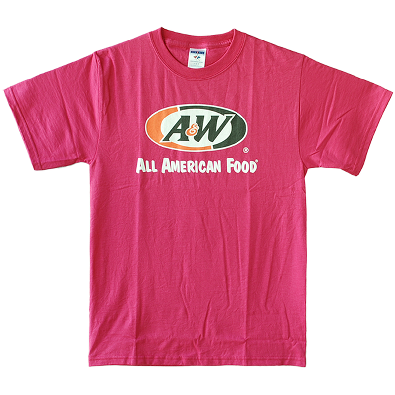 A&WロゴTシャツ:ピンク(キッズ用)