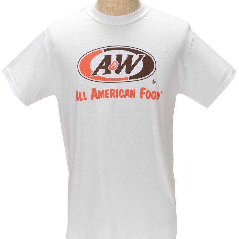 A&WロゴTシャツ:ホワイト