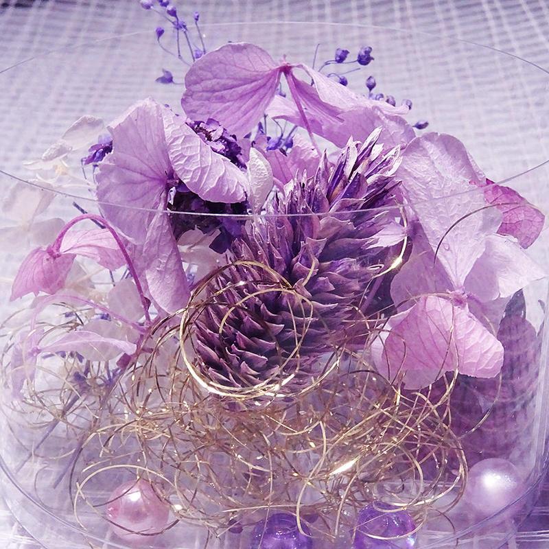 【おまかせパープル系】ハーバリウム花材セット