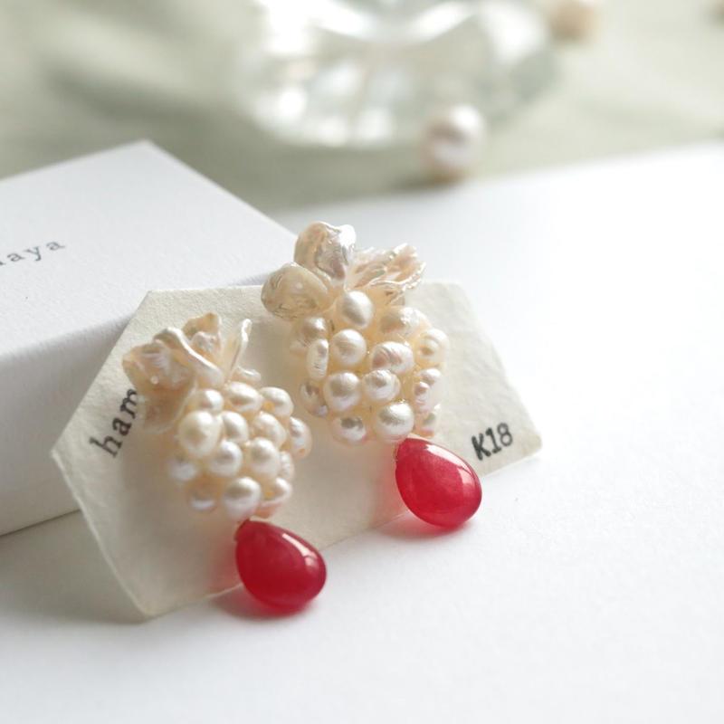 Flower  with bijou  < jade>