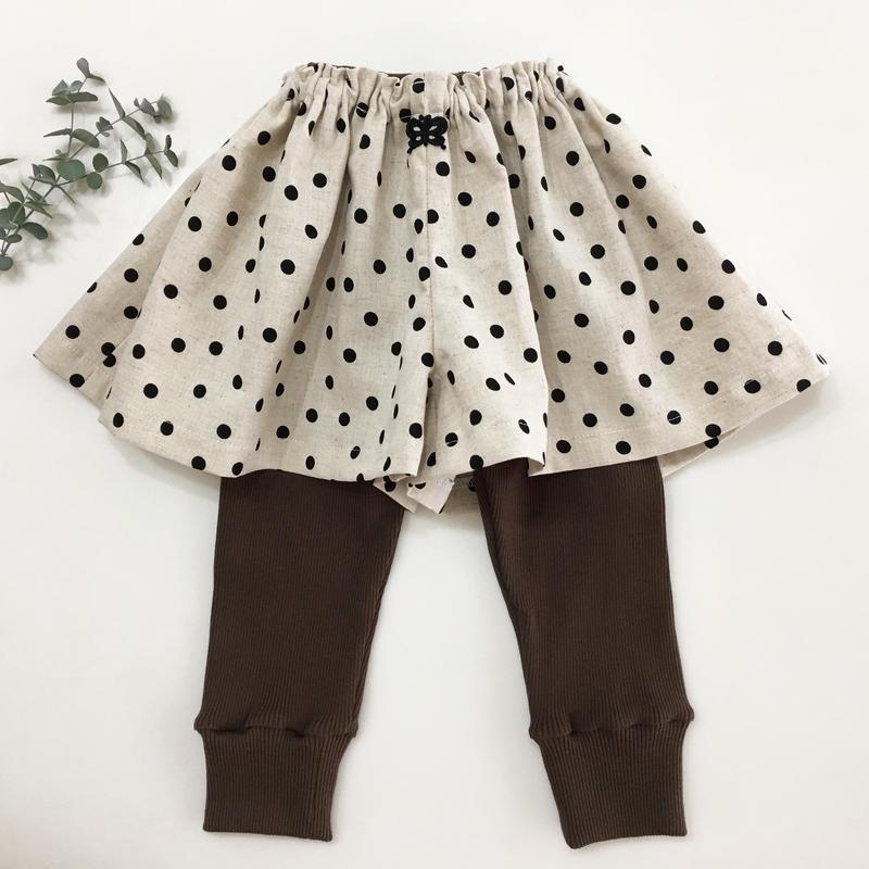 Linen dot キュロットスカート90cm