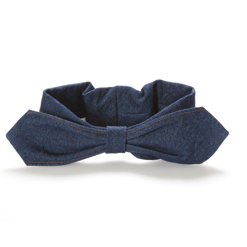 【Mr.PINK】3WAY DENIM HAIRBAND/INDIGO BLUE デニムヘアバンド