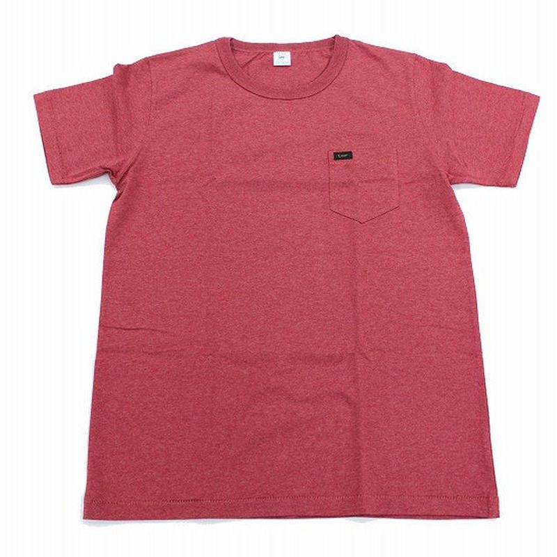 【Lee】PACK POCKET T(Heather Red)/パックポケットティーシャツ(杢レッド)