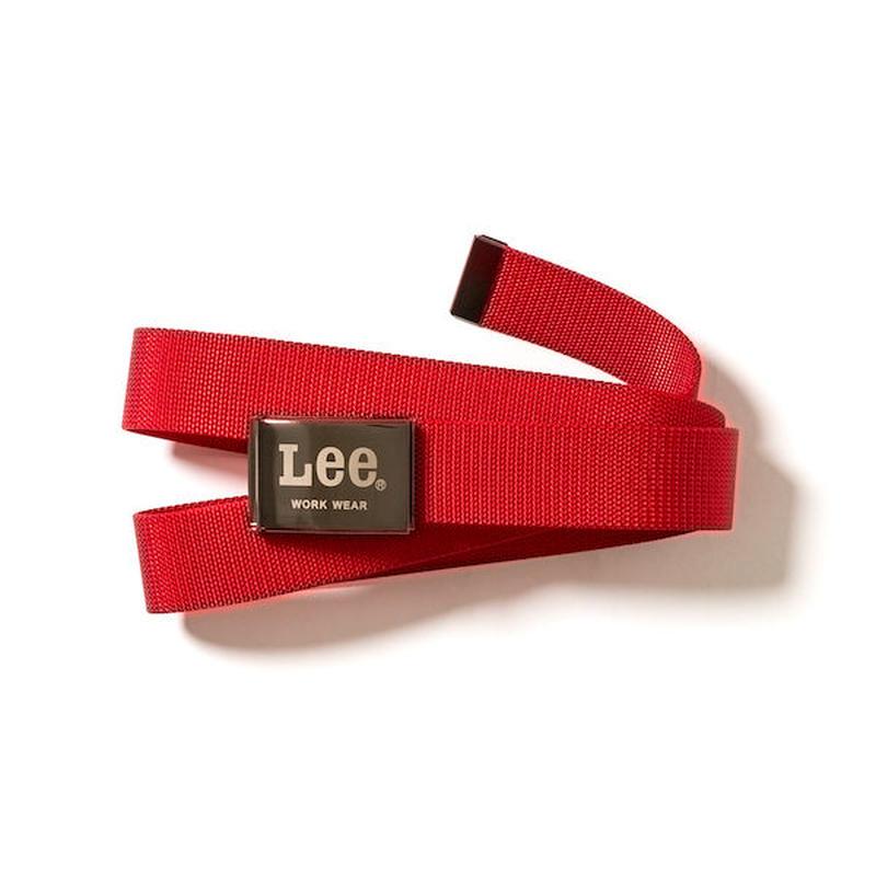 【Lee】BELT COTTON(Red)/ベルト コットン(レッド)