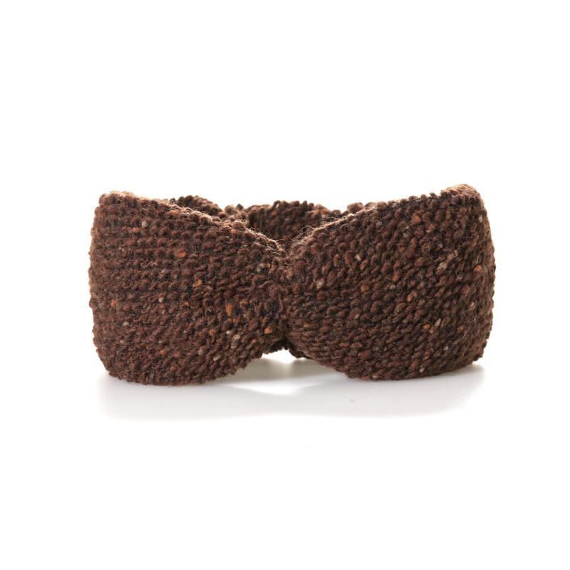 【Mr.PINK】TWEED HAIR BAND/BROWN ツイード/ブラウン