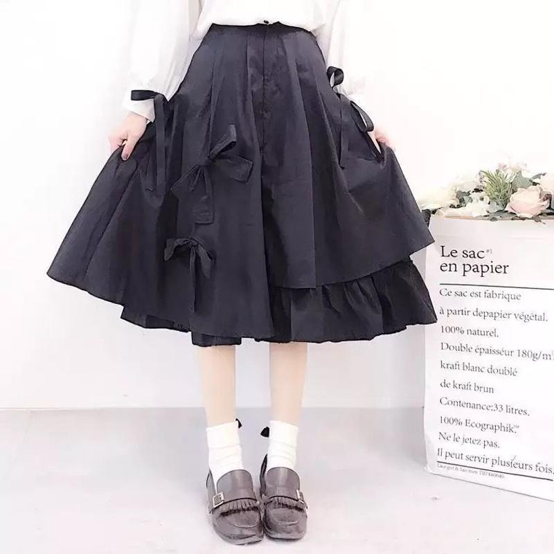 りぼんの変形スカート