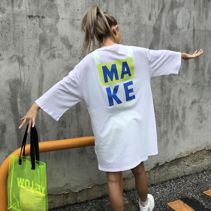 ワンピTシャツ「MAKE」