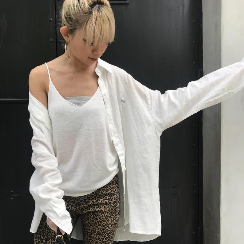 刺繍ロゴリネンシャツ「ins」