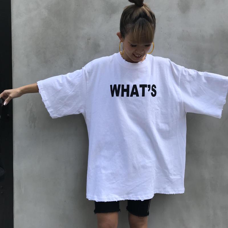 チュニックT「What's」