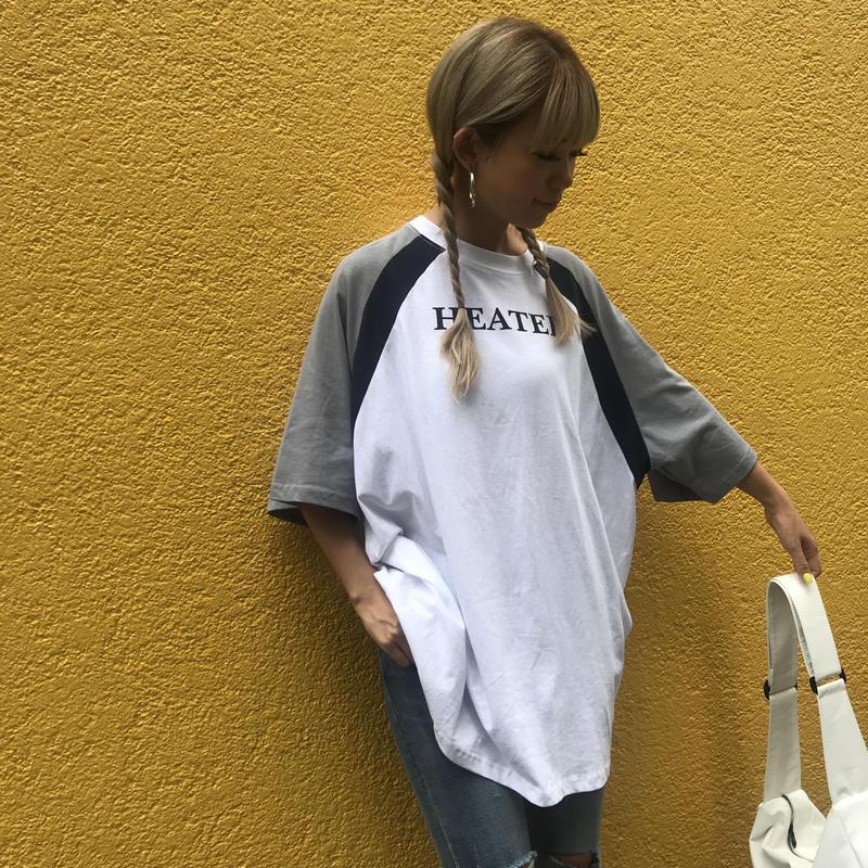 ラグランTシャツ「HEATED」