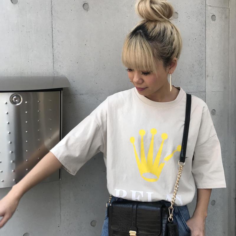 カサカサBIGTシャツ「RELAX」