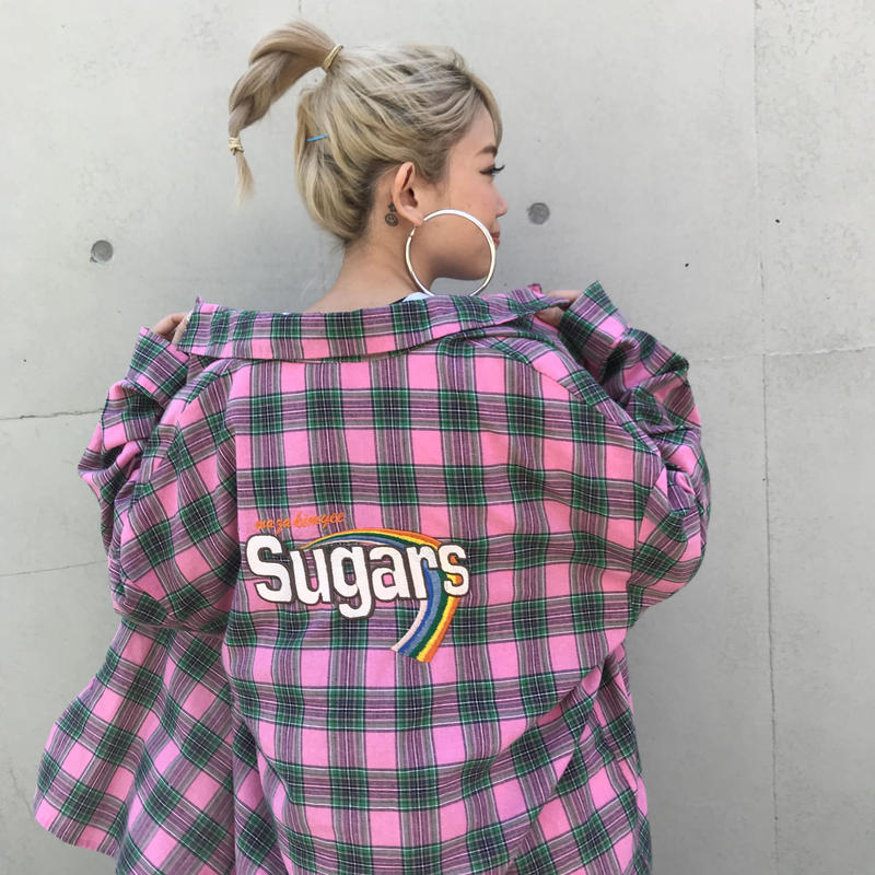 COLORFULチェックシャツ「SUGER」